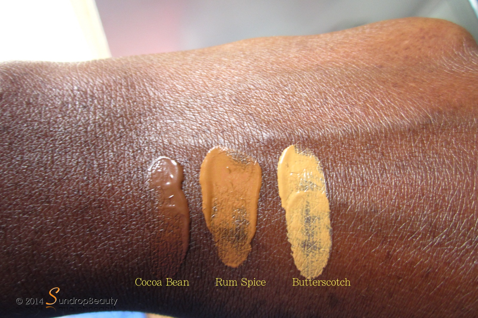 Black Radiance Foundation Swatch Sundropbeauty